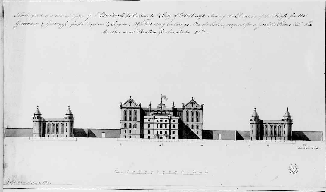 Wood Elevation Edinburgh : Robert adam edinburgh bridewell castle style scheme