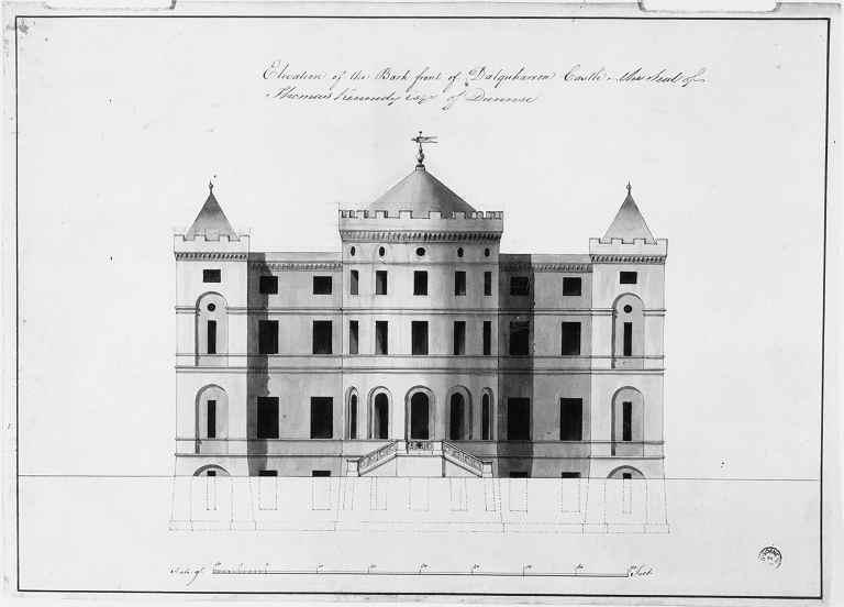 Wood Elevation Edinburgh : Robert adam designs in the castle style dalquharran